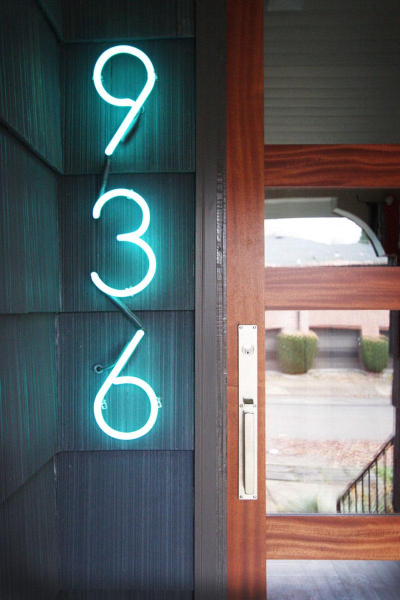 neon house number numbers lights outdoor signs rumah modern lighting sign nomor huisnummer hausnummern leuchten light led houses idea je
