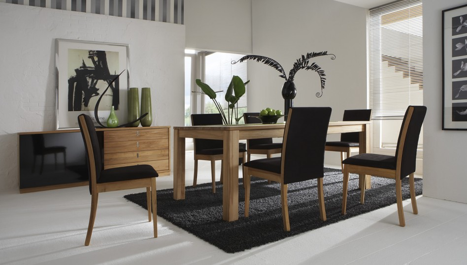 30 rugs that showcase their power under the dining table - Modern Dining Room Table Decor