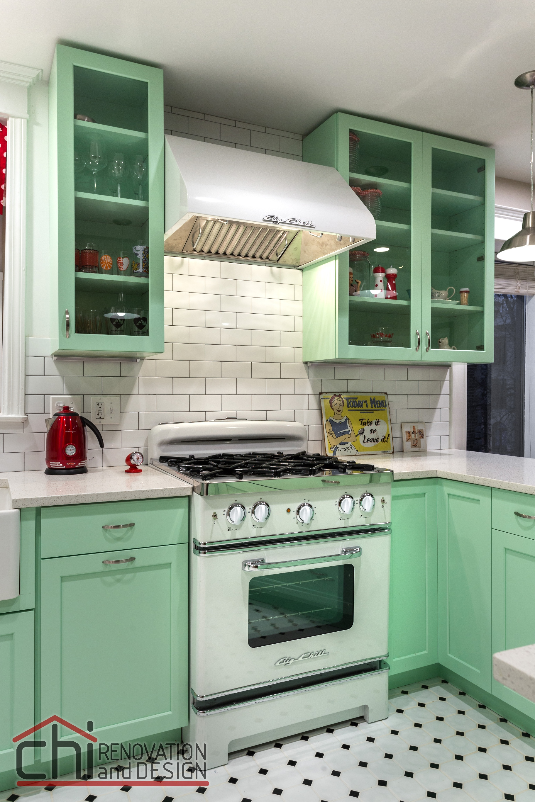 25 pastel kitchens that channel the 1950s. Black Bedroom Furniture Sets. Home Design Ideas