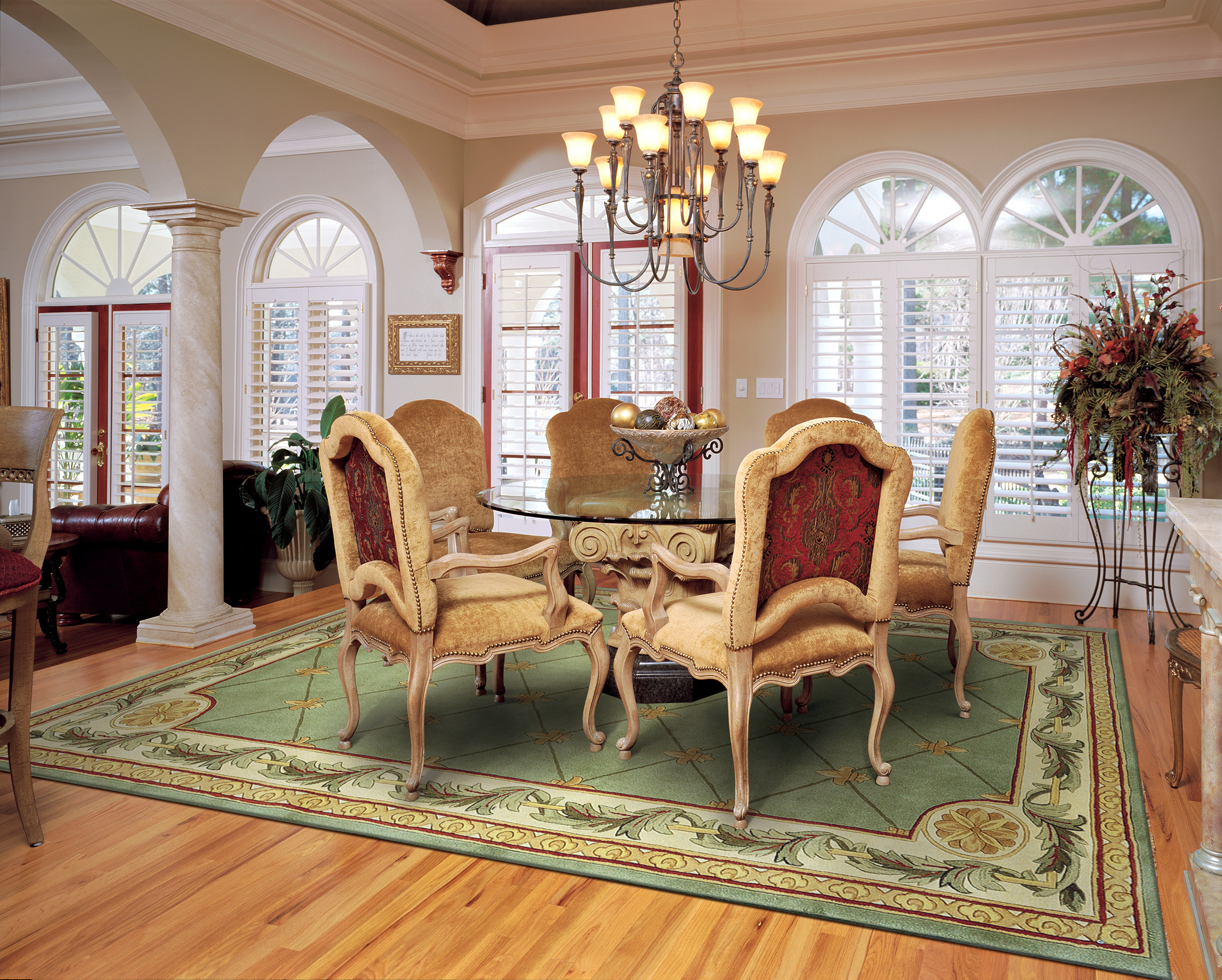 dining power for table decor vivid calls their decorating a the style showcase that rugs rug in victorian room under