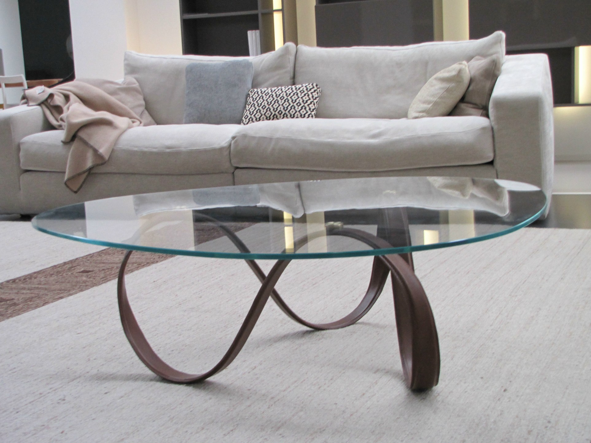 glass dining round tables modern crackle products with base metal mortise tripod table
