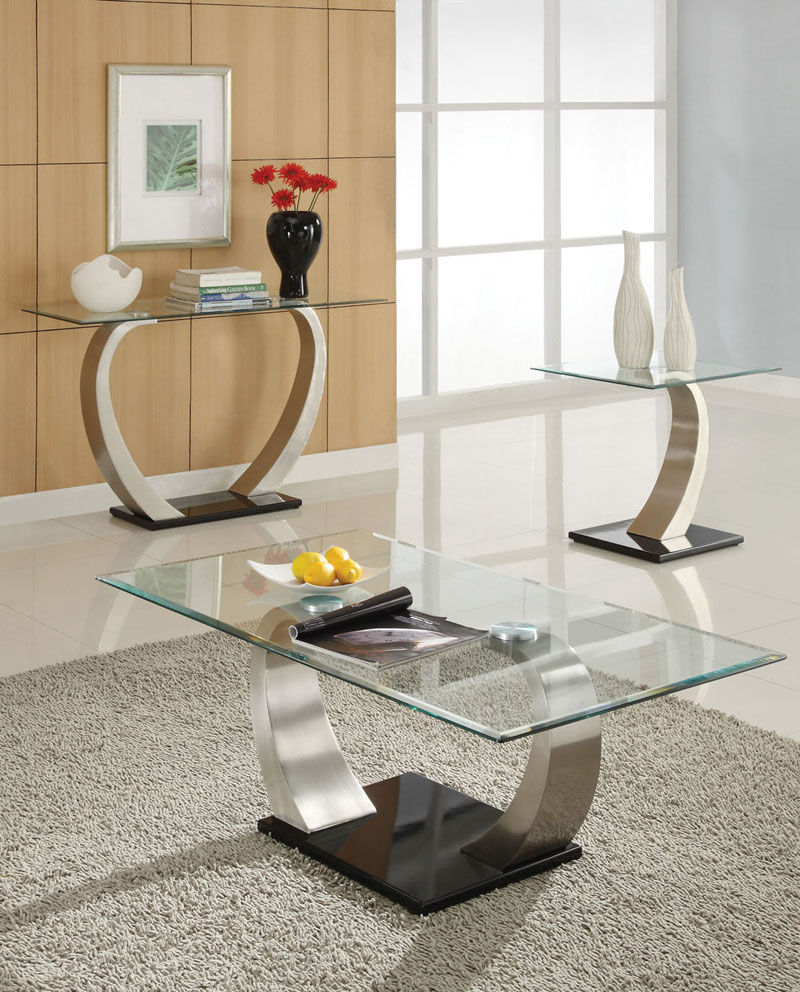 glassy and eyecatching designs.  glass coffee tables that bring transparency to your living room