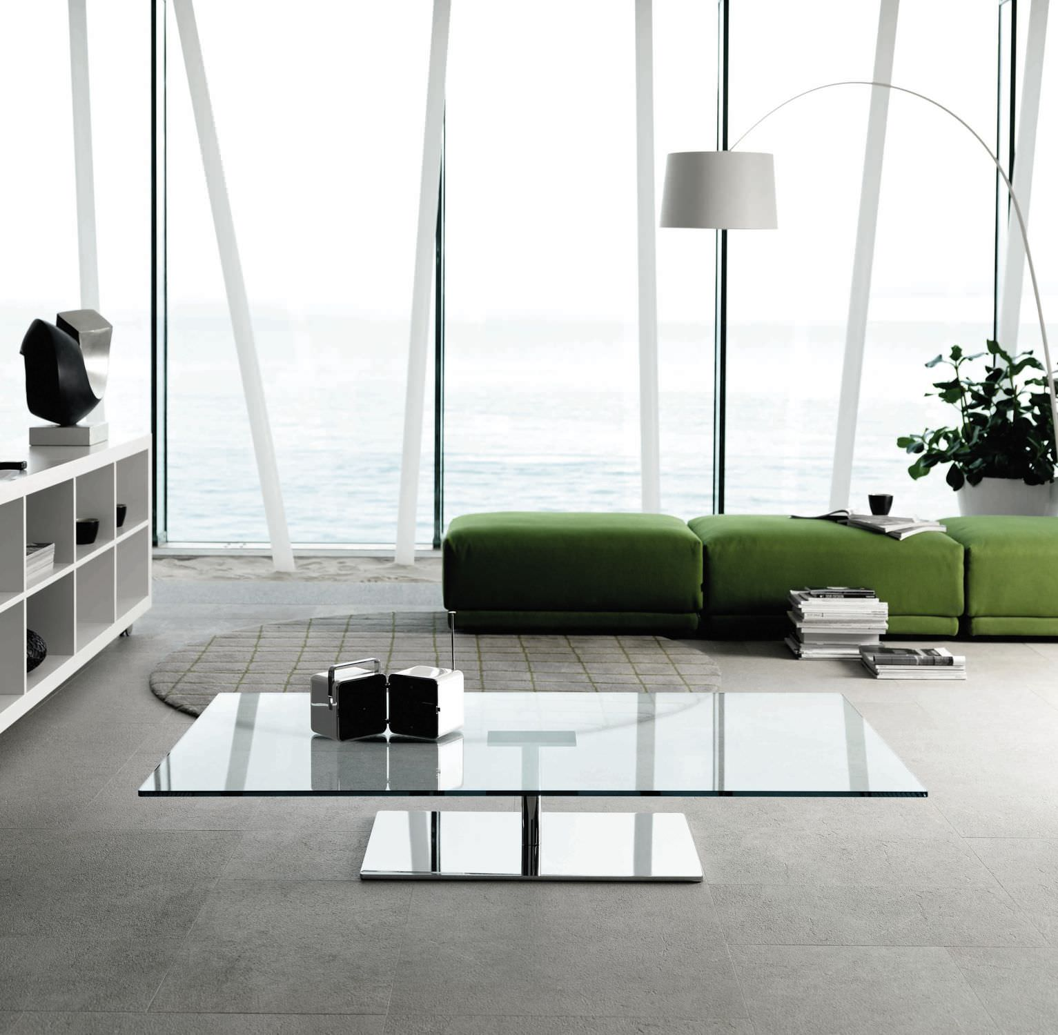 30 glass coffee tables that bring transparency to your for Drawing room table