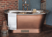 A-matte-copper-bathtub-with-a-neat-and-elegant-look-217x155