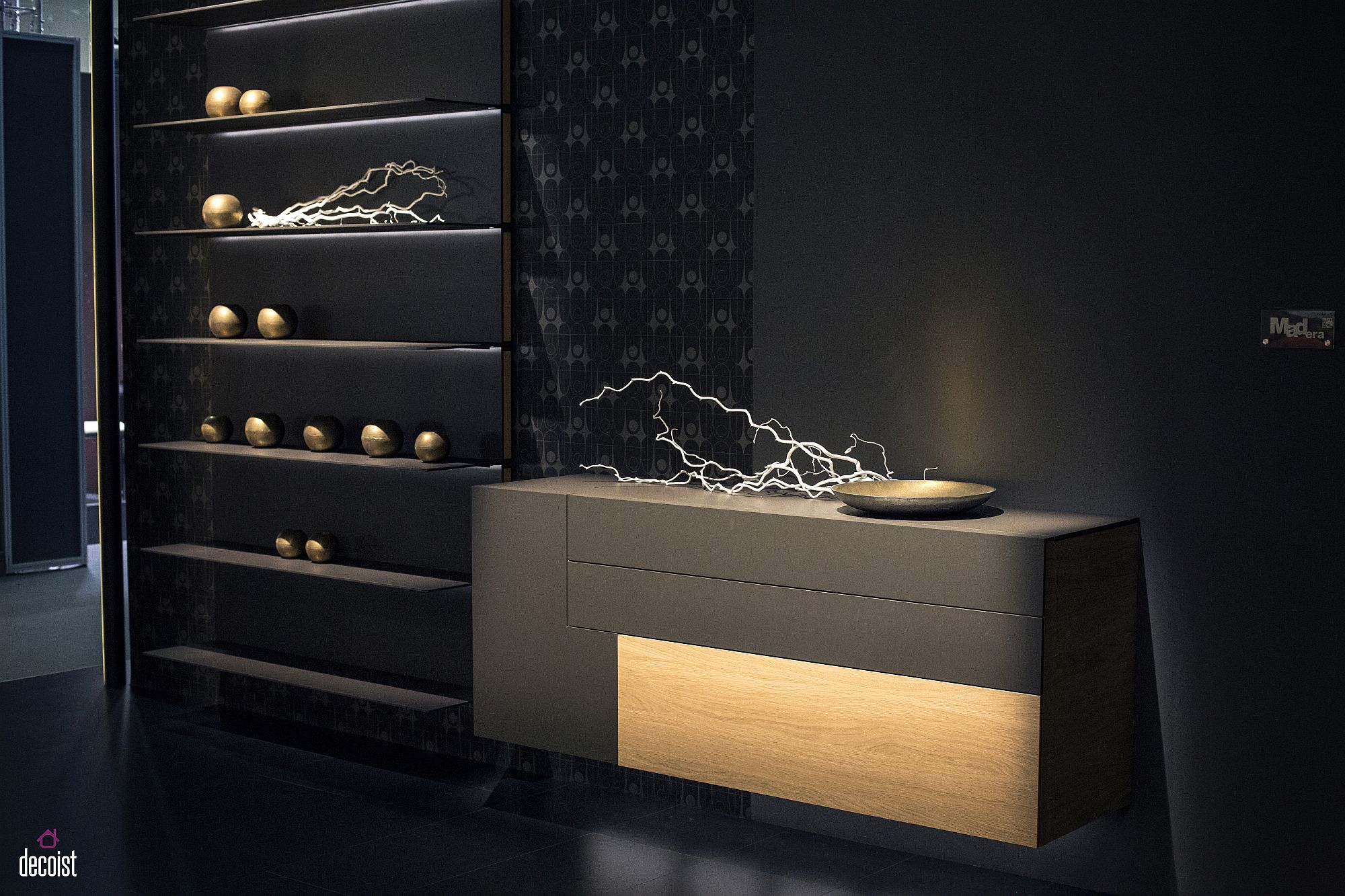 A more classic take on wall shelving with modern flair