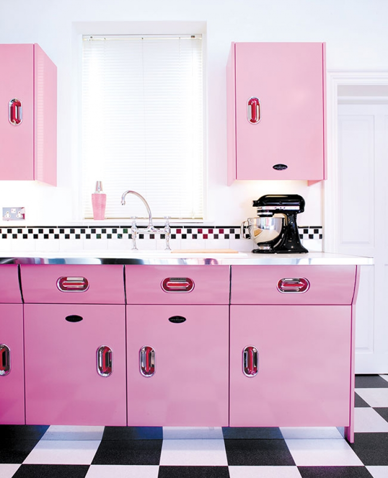 All Pink Kitchen 25 Pastel Kitchens That Channel The 1950S