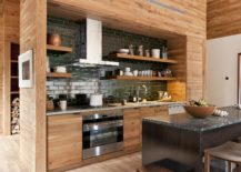 Black-tiled-backsplash-for-the-kitchen-draped-in-wood-217x155