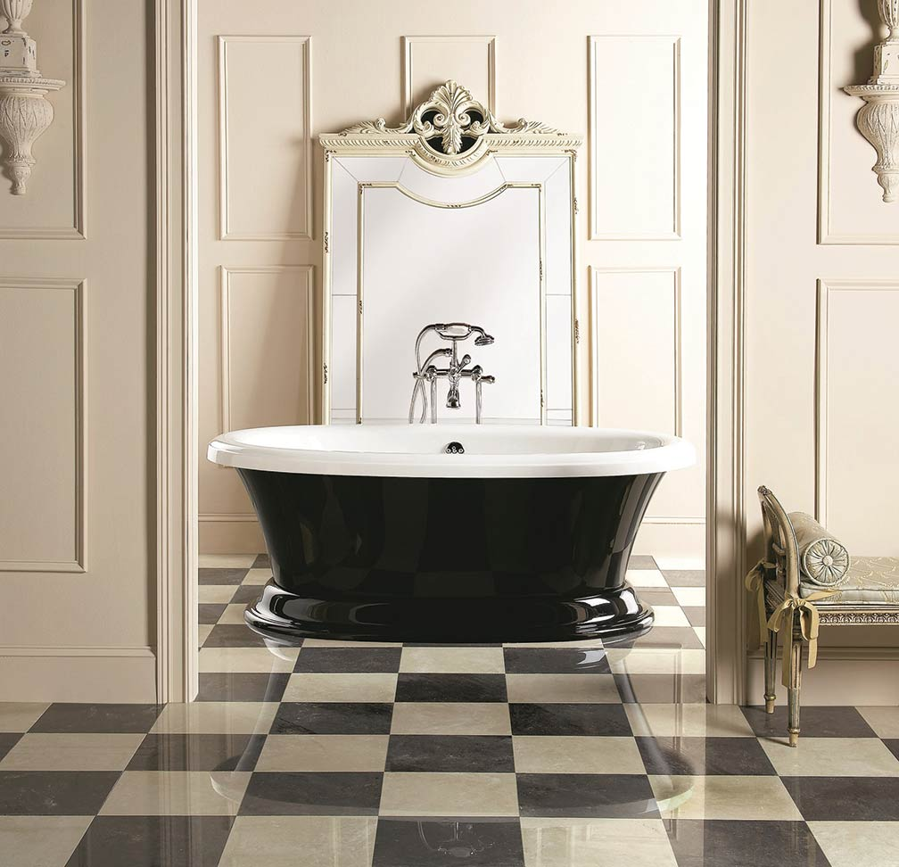 Checkered-bathroom-styled-like-one-of-royalty-