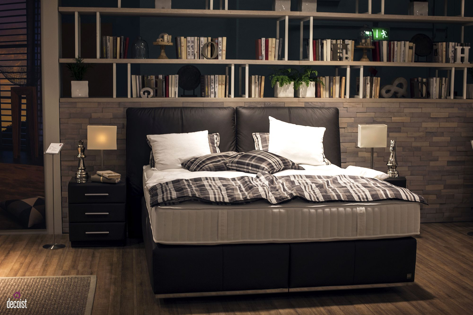 Classic nightstand brings symmetry and style to the contemporary bedroom