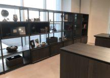 Dark-grey-kitchen-bookshelf-with-iron-shelves-217x155