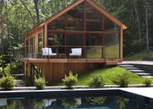 dashing modern cabin design at hudson woods 217x155 hudson woods sustainable modern cabins offer an - Modern Cabin Design