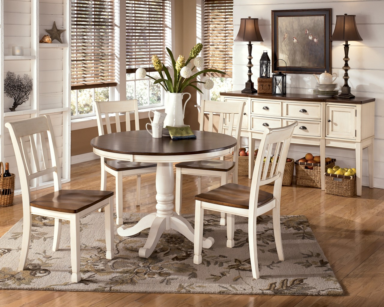 Rugs For Rustic Dining Rooms
