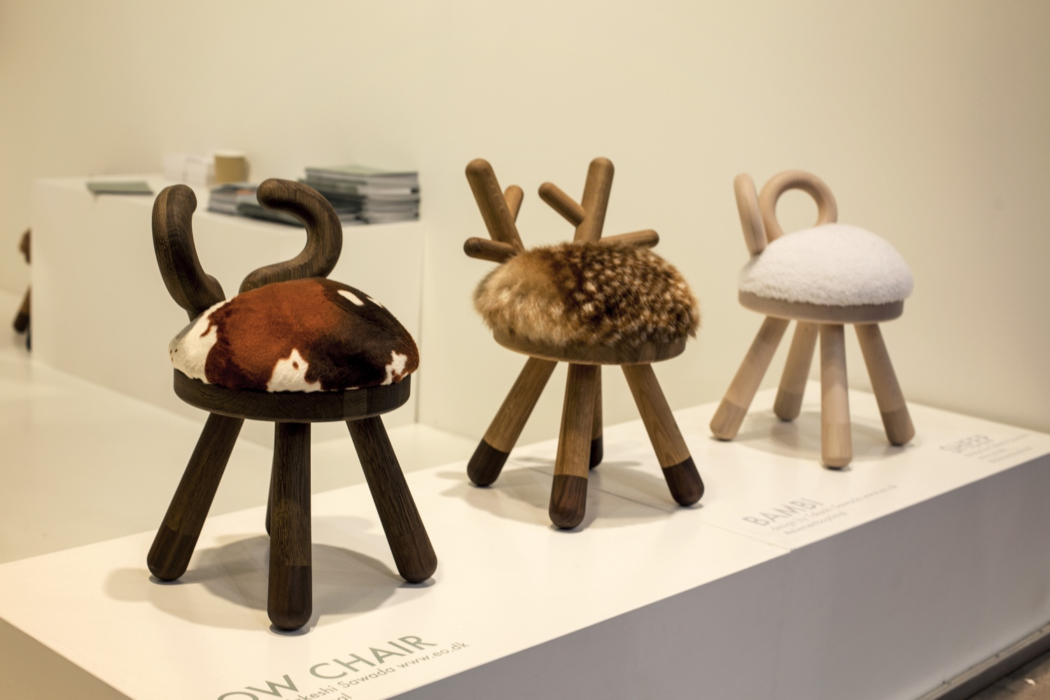Elements Optimal Cow, Bambi, Sheep chairs