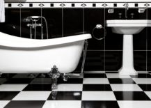Emphasise-the-contrast-between-the-black-and-the-white-in-a-checkered-bathroom-217x155