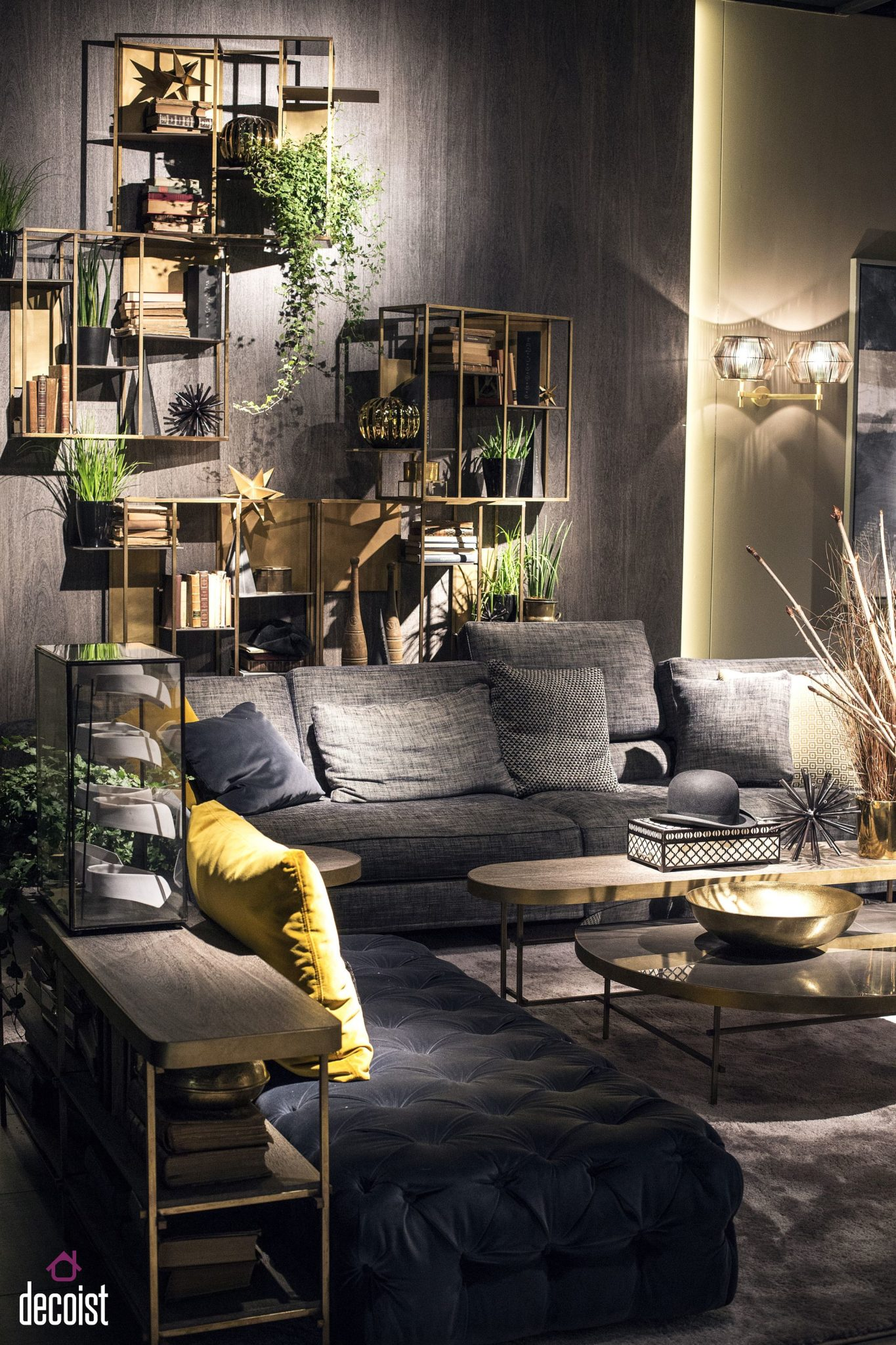 Fabulous living room design idea makes complete use of vertical space on offer