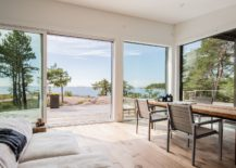 Fabulous views of the Baltic sea and the ricky coastline from the interior 217x155 Modern Scandinavian Log Cabin Set on a Beautiful Baltic Sea Island