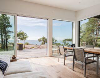 Modern Scandinavian Log Cabin Set on a Beautiful Baltic Sea Island