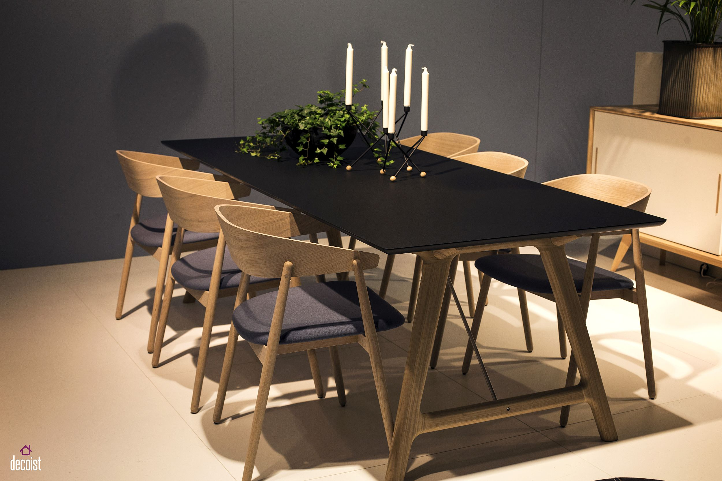 A natural upgrade 25 wooden tables to brighten your for Black wood dining table