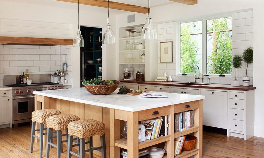 10 Dashing Modern Kitchens that Combine Marble and Wood