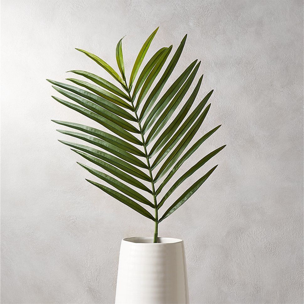 Faux palm leaf from CB2