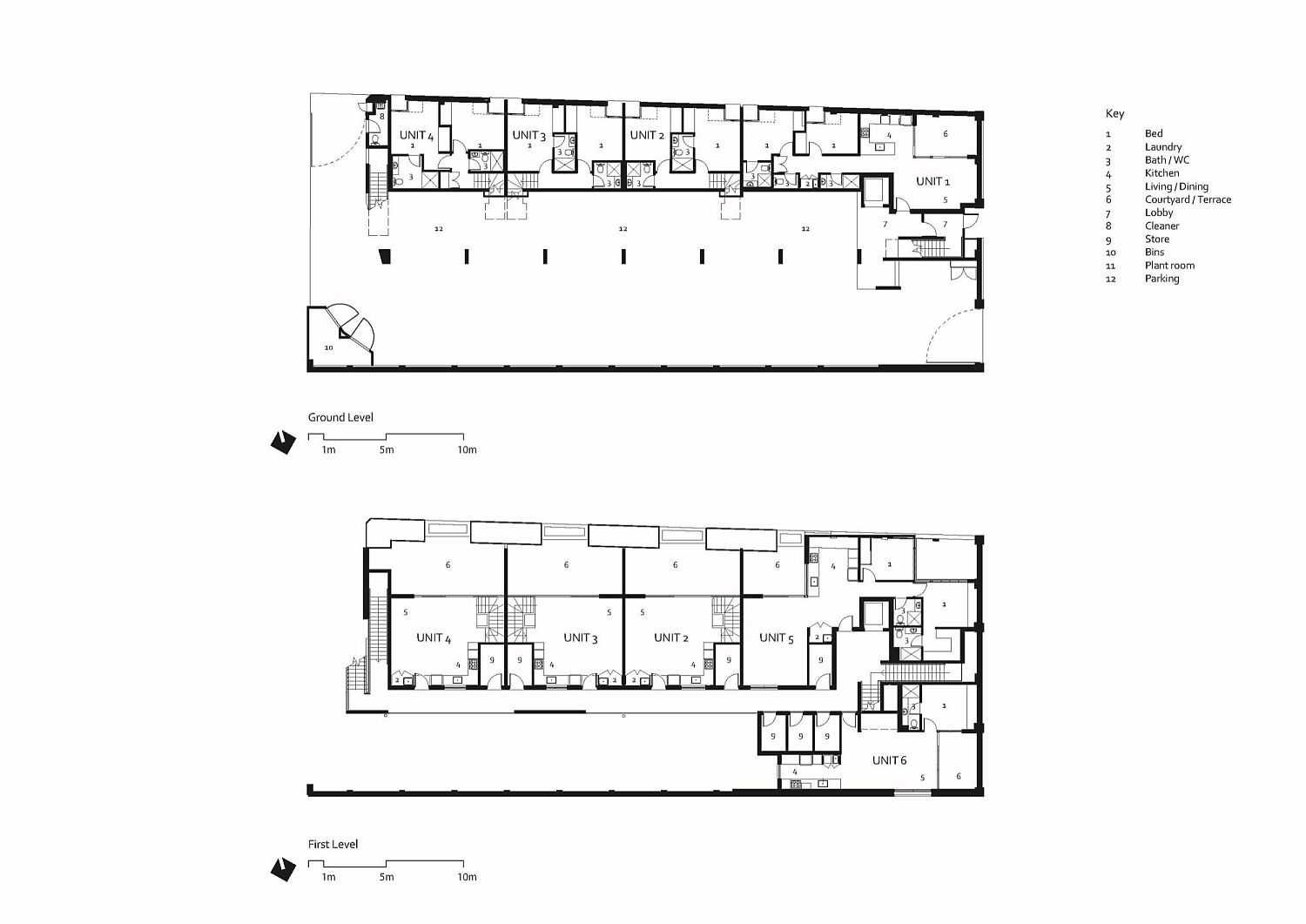 First level and second level floor plan of the building