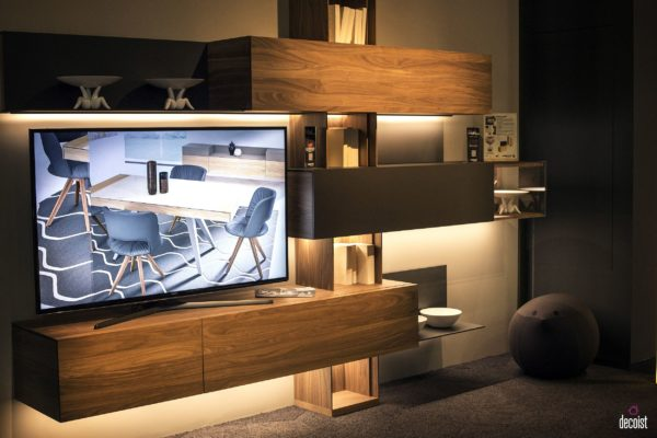 Led Tv Stand Designs : Tastefully space savvy living room tv units that wow