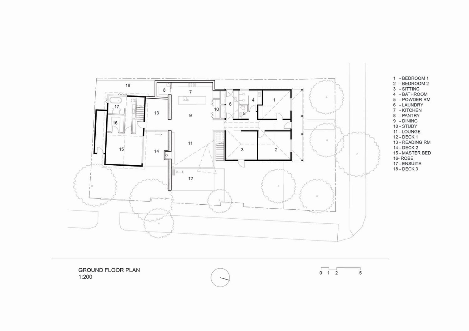 Floor plan of Wheat House in Melbourne