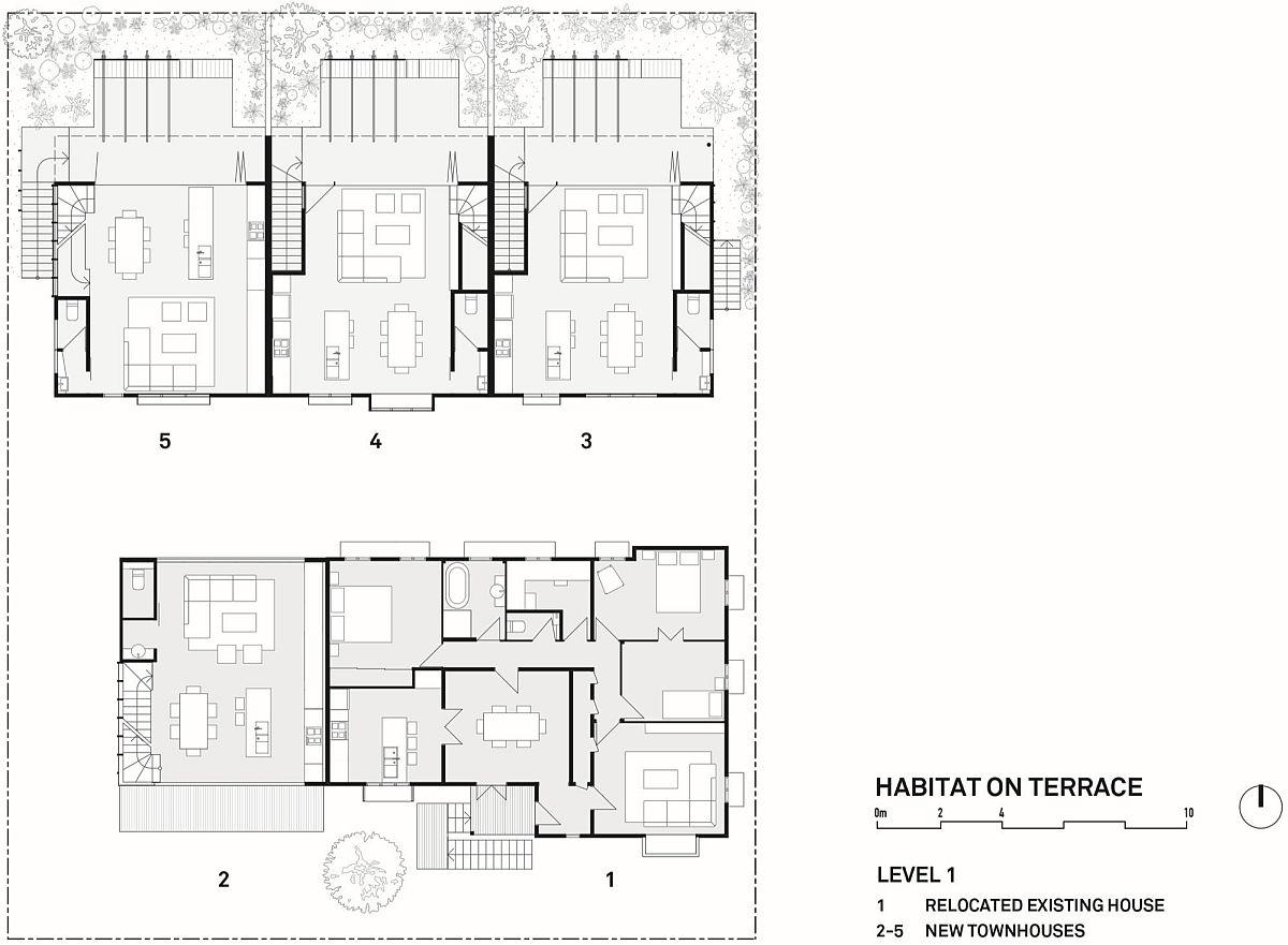 Floor plan of level 1 of Habitat on Terrace
