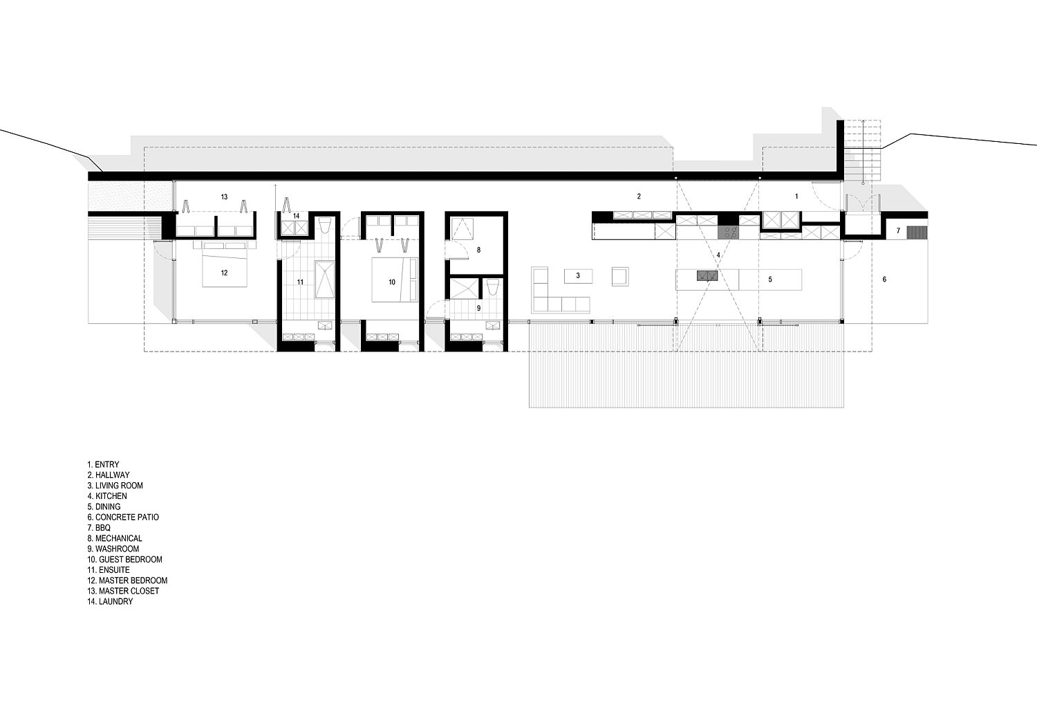 Floor plan of the coastal home in Inverness