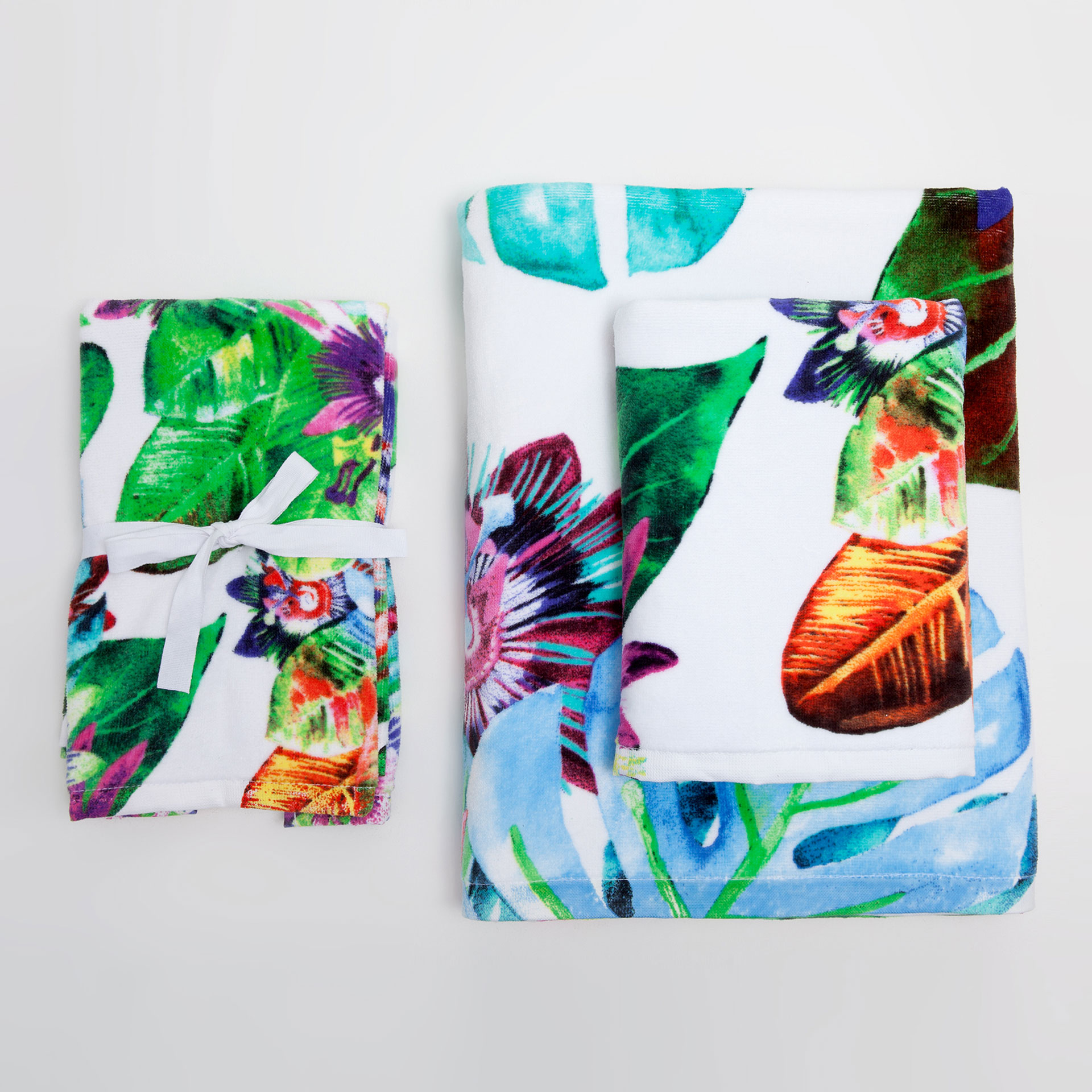 Floral-print towels from Zara Home