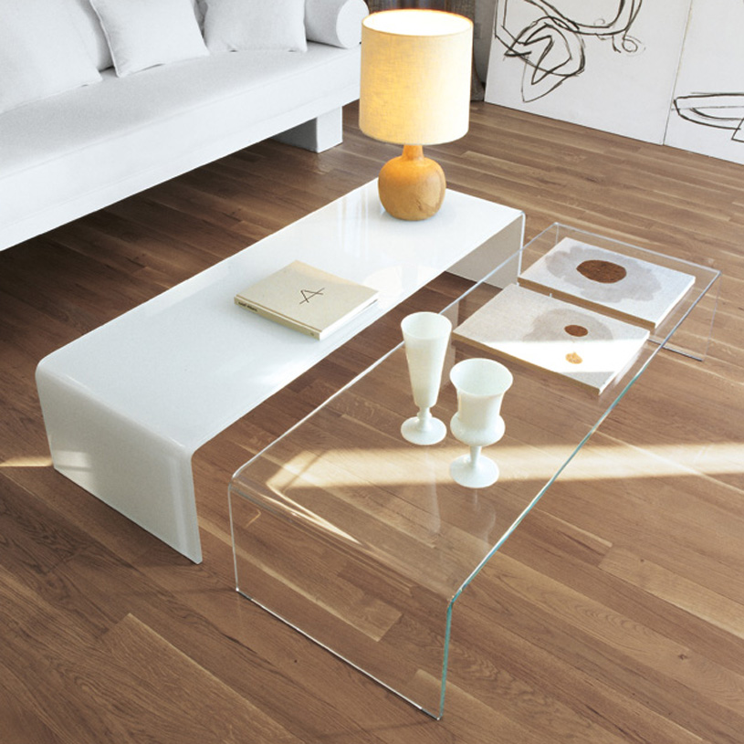 30 glass coffee tables that bring transparency to your for White and glass coffee table