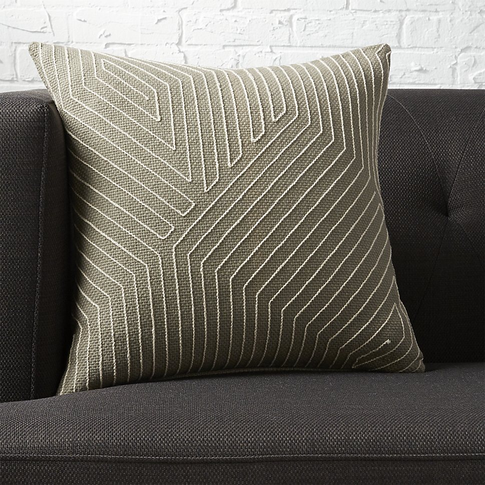 Geo pillow from CB2