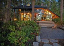 Glass metal frame and prefab SIPs create a eco conscious and comfy cabin in Washington 217x155 Caring for the Planet: Tranquil Cabin Retreat in Washington