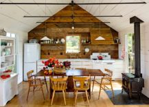 Gorgeous one wall kitchen with farmhouse style 217x155 Single Wall Kitchens: Space Saving Designs with Functional Charm