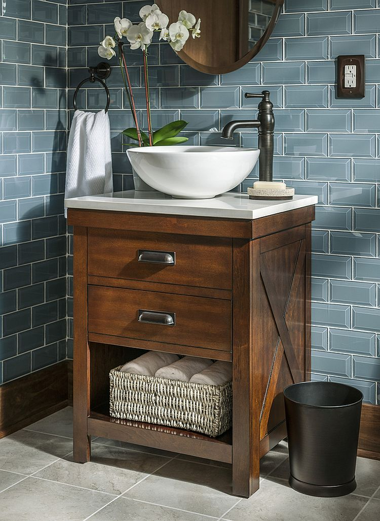 Gorgeous standalone vessel sink in white