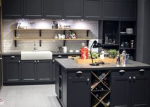 Gray-and-white-kitchen-exudes-a-hint-of-retro-charm-217x155