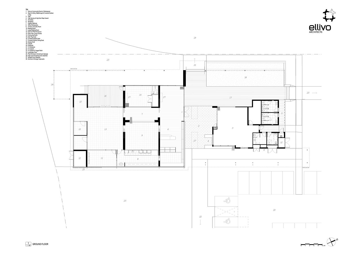 Ground floor plan of Providence Neighbourhood Centre