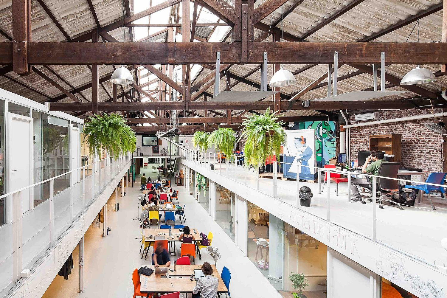 Indoor plants become an essential part of the modern industrial office makeover Sinergia Cowork Palermo: Adaptive Reuse at its Industrial Best