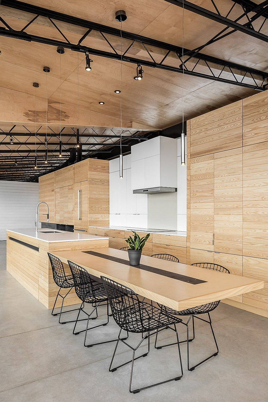 Kitchen and dining space rolled into one