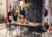 Metallic-chairs-and-wooden-dining-table-bring-contrast-to-the-contemporary-interior-217x155