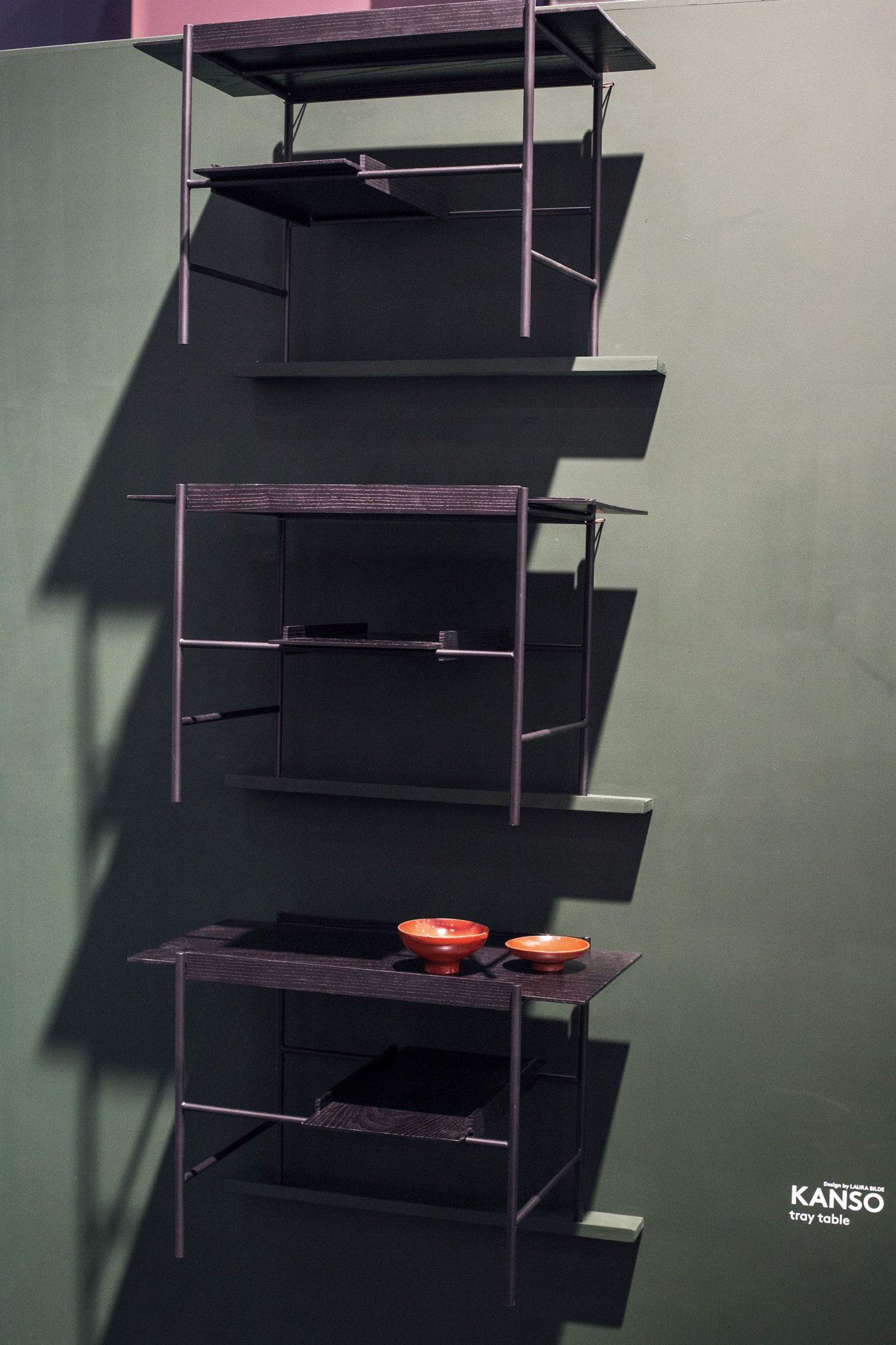 Minimal modular wall-mounted shelves