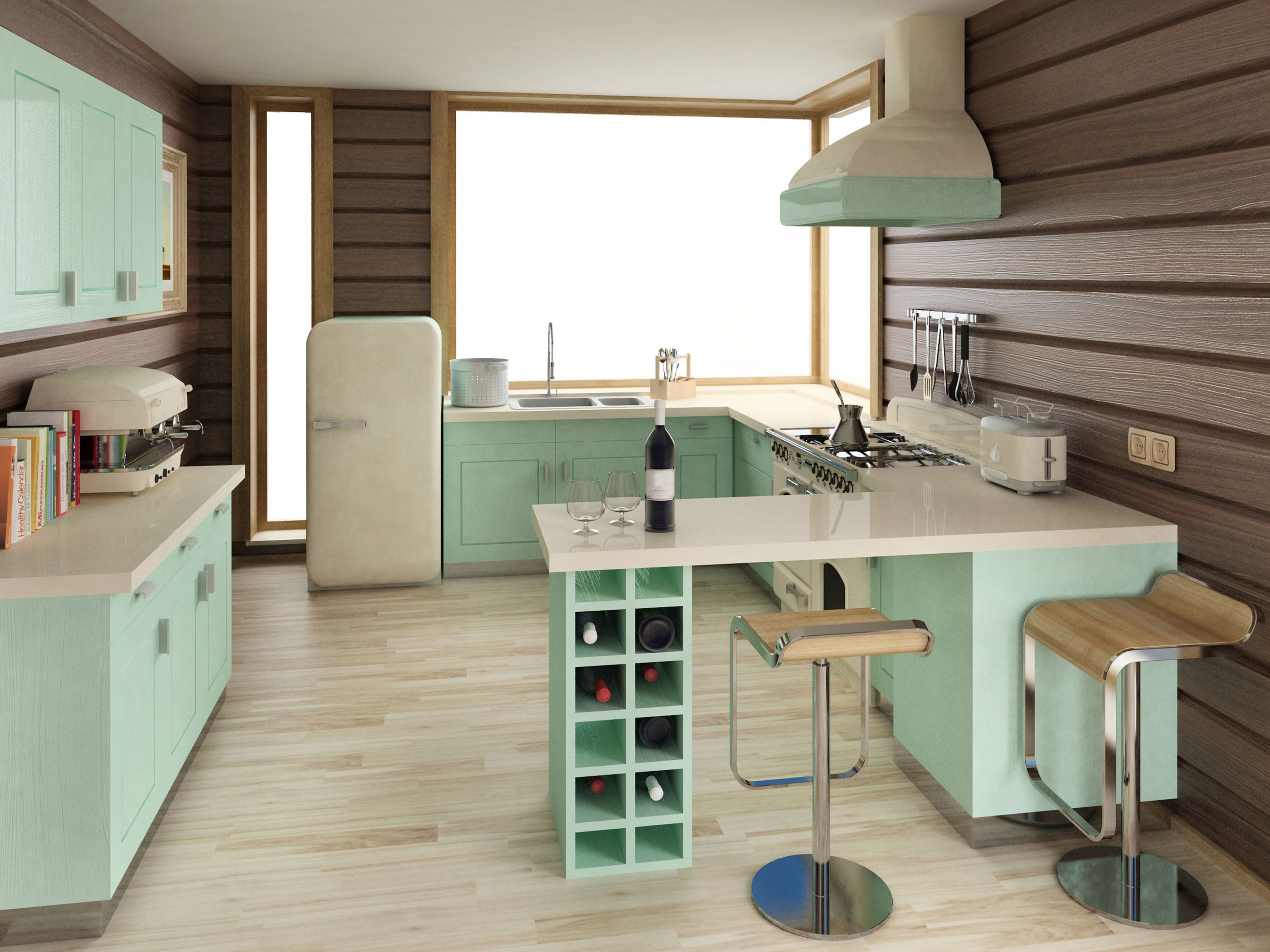 Pastel Kitchen 25 Pastel Kitchens That Channel The 1950s