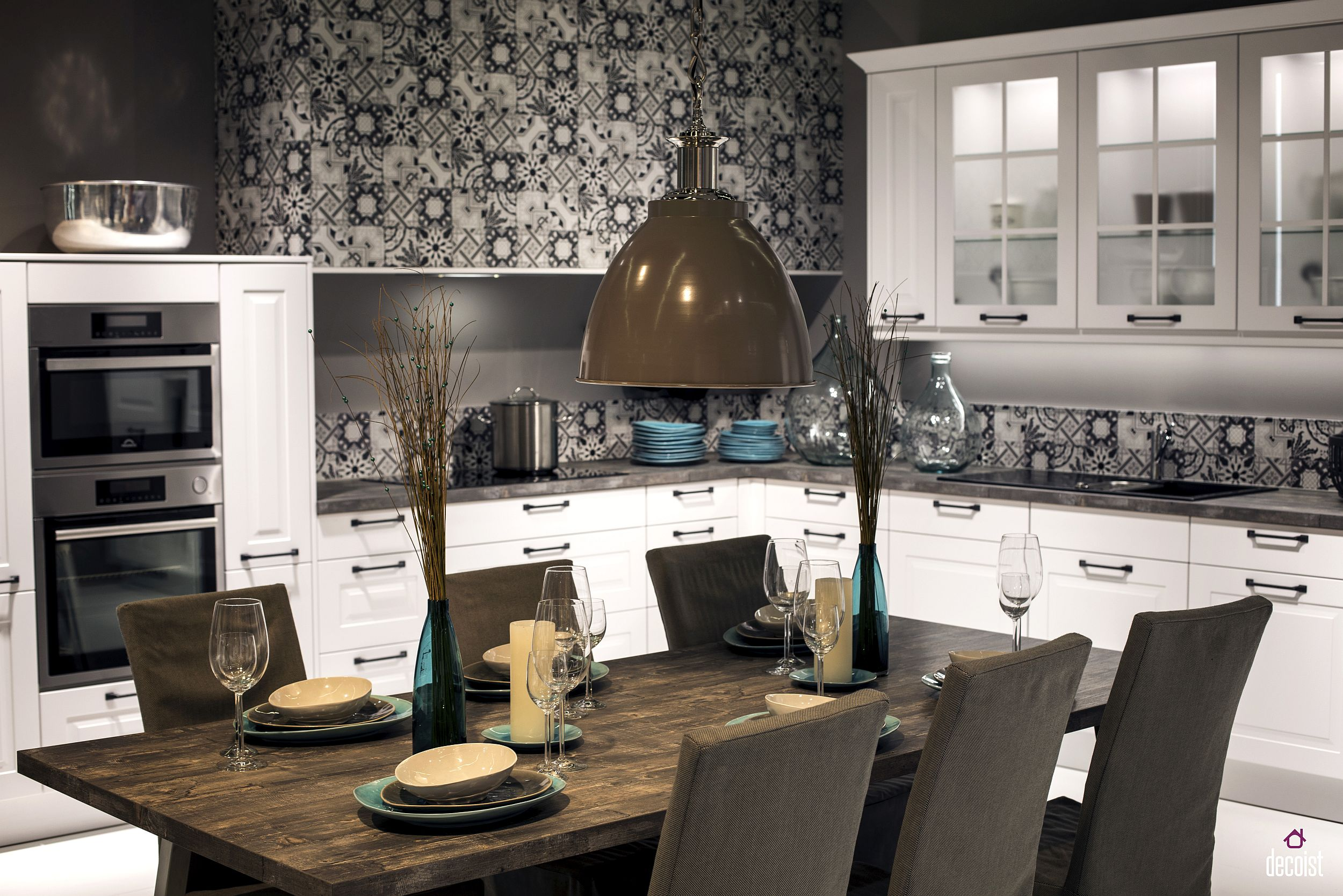 Modern rustic dining room table -  Dining Table Steals The Show Here View In Gallery Modern Rustic