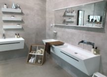 Modern-white-bathroom-furniture-with-concrete-looking-tiles-on-the-walls-GamaDecor--217x155