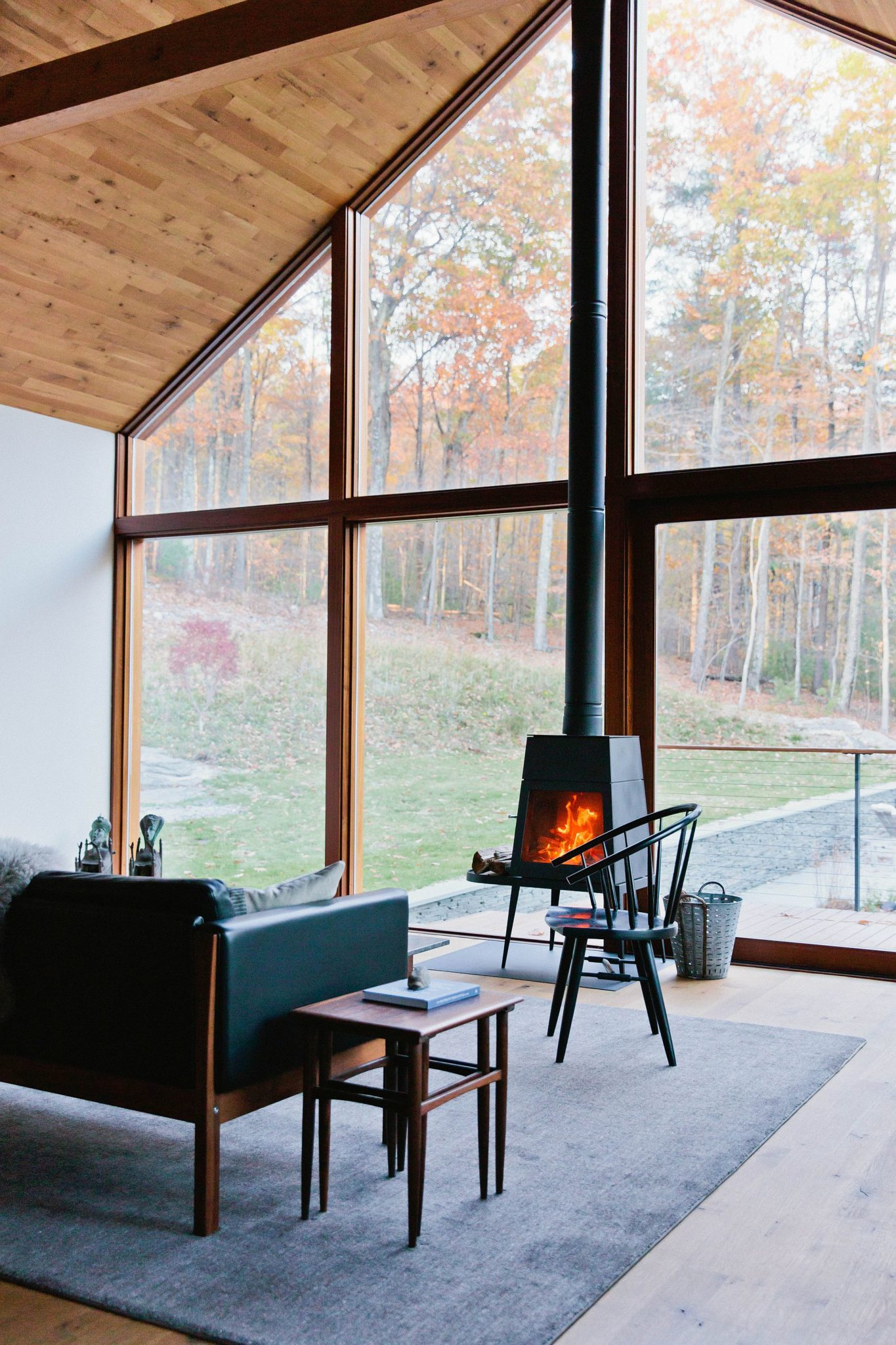Hudson woods sustainable modern cabins offer an escape Opening glass walls