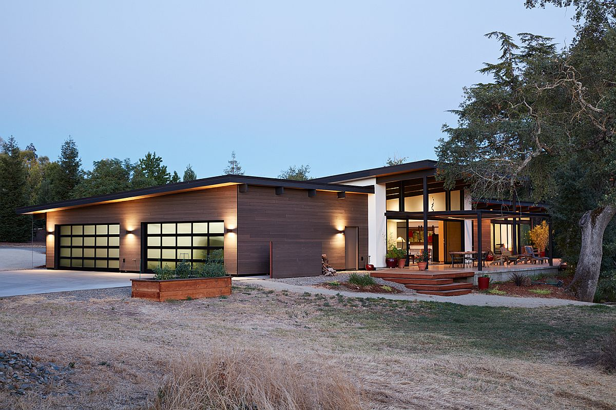 Outdoor lighting elevates the visual appeal of the home