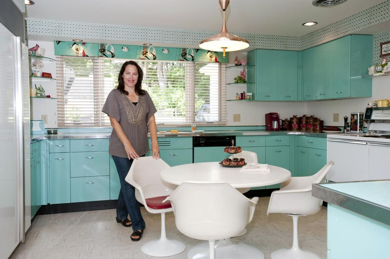 Minty Blue And Green Pastel Kitchens