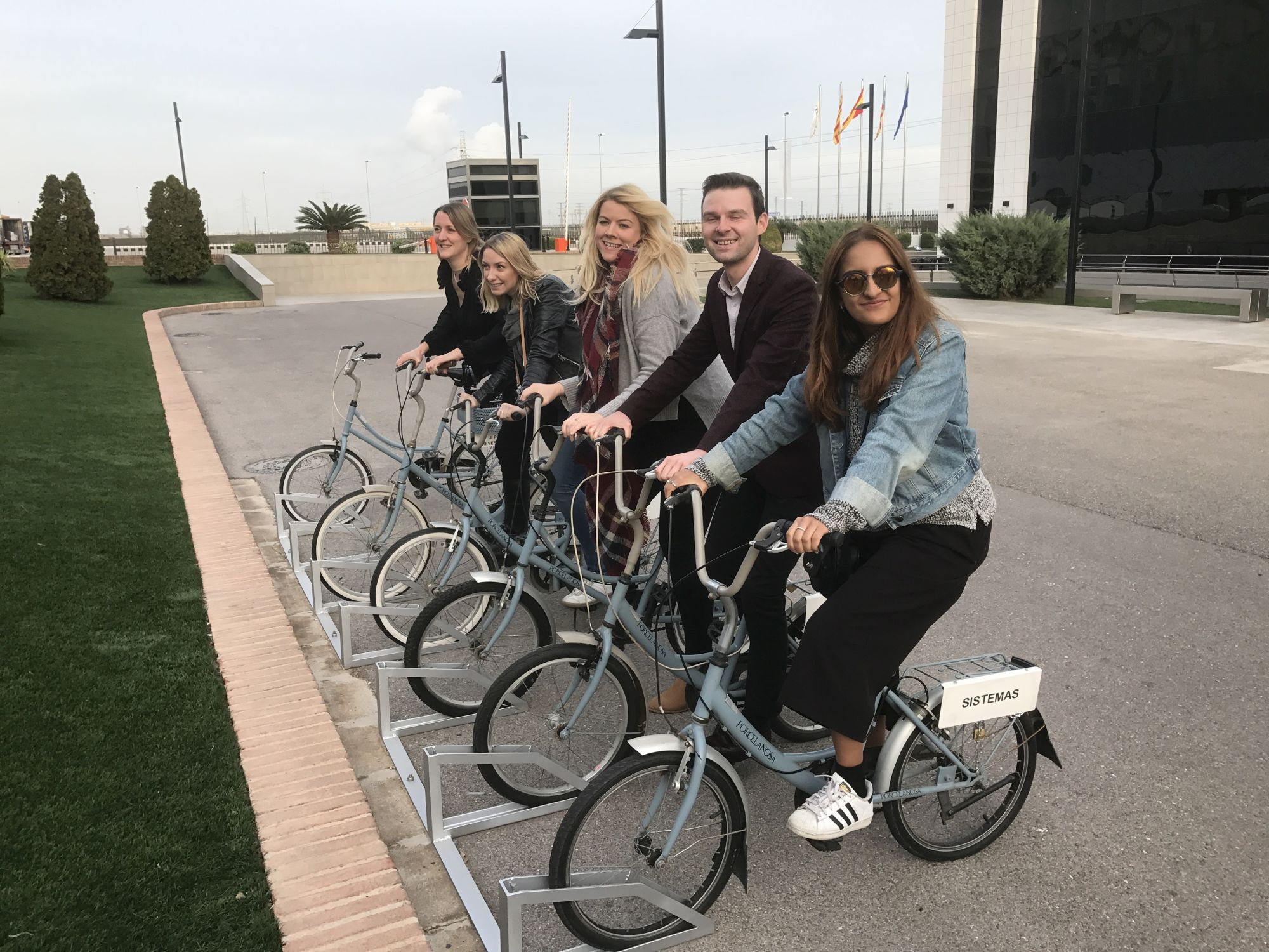 Porcelanosa-factory-bikes-with-fellow-blogger-friends