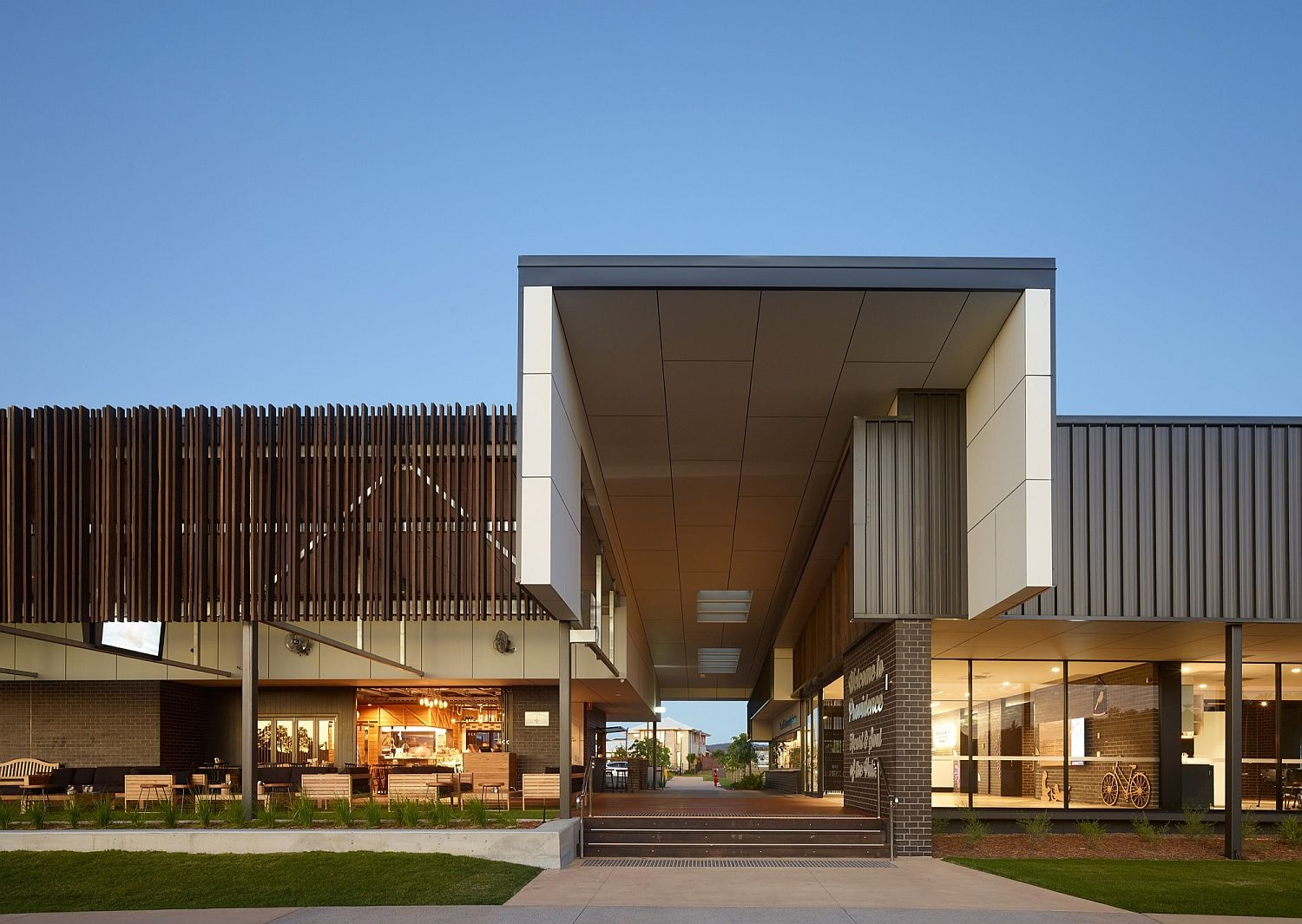 Providence Neighbourhood Centre in Queensland Australia Natural Industrial Design: Flamboyant Community Center Down Under