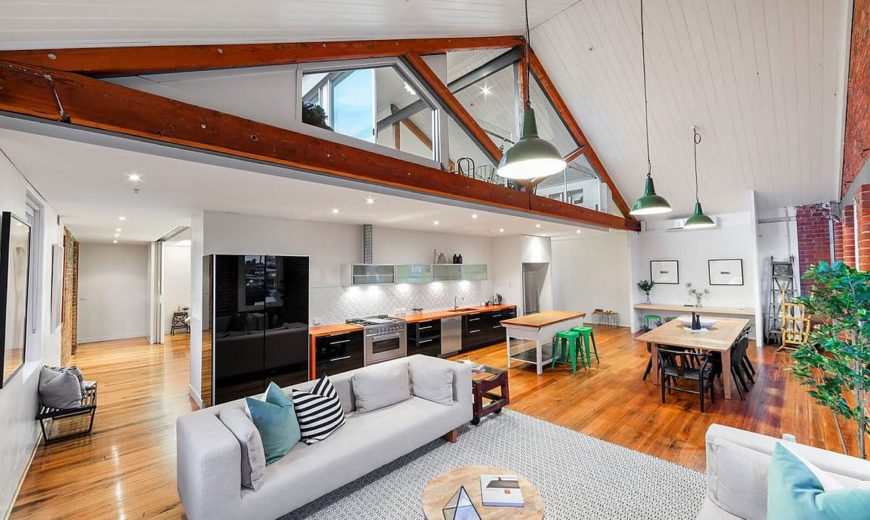 This Sparkling Penthouse in Melbourne was once the Trescowthick Tannery!